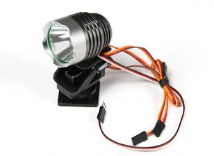 Searchlight poderosa com built-in Pan / Tilt e Luz remoto modo de comutação
