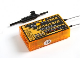 OrangeRx GA7003XS Futaba FASST receptor compatível 7CH 2.4Ghz com 3 eixos Estabilizador FS e SBus