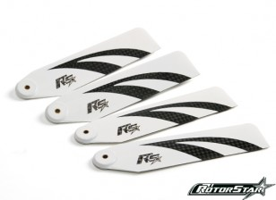 110 milímetros RotorStar assalto ceifeira 500 premium 3K Carbon Fiber Blades - Branco (2 pares)