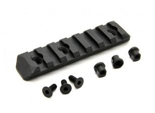 PTS aprimorados Rail Seção Keymod 7 Slots (Black)