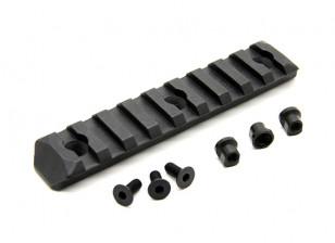 PTS aprimorados Rail Seção Keymod 9 Slots (Black)