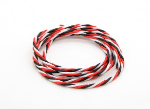 Torcido 22AWG Servo fio vermelho / preto / branco (1mtr)