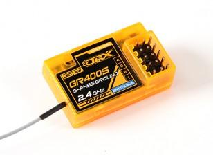 OrangeRx GR400S Futaba FHSS & S-FHSS 4 canais Receptor Compatível terra 2.4Ghz com FS e SBus