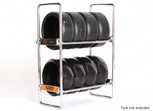 NZO 1/10 Escala Tire Rack - prata