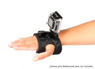 Luva suporte ajustável para GoPro ou Turnigy Cams Ação (Large)