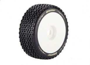 LOUISE B-PIRATA 1/8 Escala Buggy pneus de compostos macios / White Rim / Mounted