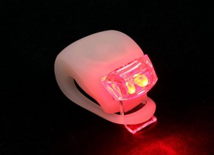 Branco Silicon Mini-Lamp (LED vermelho)