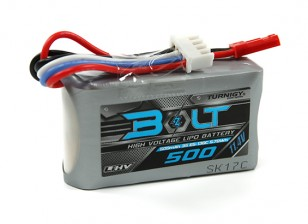 Turnigy Parafuso 500mAh 3S 11.4V 65 ~ 130C High Voltage Lipoly Pack (LiHV)