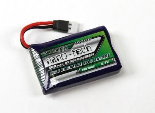Turnigy nano-tecnologia 500mAh 1S 25 ~ 50C Lipo Pack (Losi Mini Compatible)