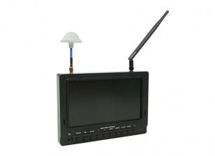 7 polegadas 800 x 480 40CH Diversidade Receiver Sun legível FPV monitor w / DVR FieldView 777SB (plug EUA)