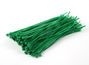 Cintas 150 mm x 3 milímetros Green (100pcs)