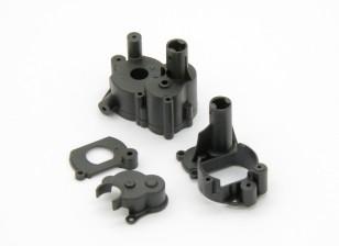 Gearbox Habitação, Motor Mount, tampa do motor Plate (1pc) - Basher Rocksta 1/24 4WS Mini rastreador de Rock
