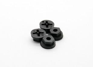 Roda Hex (4pcs) - Basher Rocksta 1/24 4WS Mini rastreador de Rock