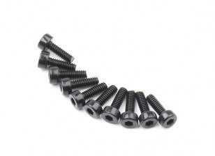 Metal soquete Machine Head Hex Screw M2x6-10pcs / set