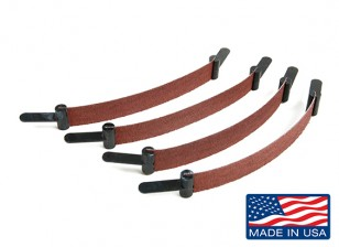 "Zona 1/2 ""ampla Plain End Scroll Sanders Assorted Grit (4pcs)"
