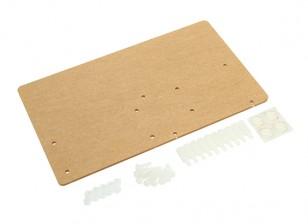 Acrílico placa de montagem para ecrãs LCD Arduino LCD1602