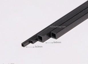 750x6mm tubo de fibra de carbono Praça