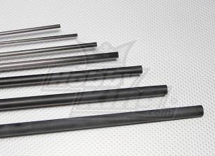 Fibra de Carbono Tubo (oca) 3x2x750mm
