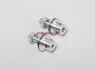 adaptador Prop w / Aço Porca M8x5mm eixo (Grub tipo parafuso)