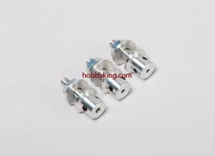 adaptador Prop w / Aço Porca 3 / 16x32-2.3mm eixo (Grub tipo parafuso)