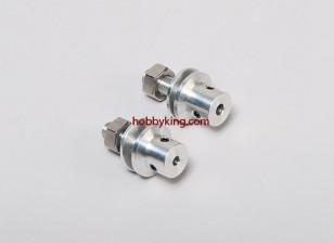 adaptador Prop w / Aço Porca 1 / 4x28-3.2mm eixo (Grub tipo parafuso)