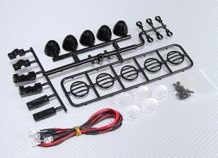 1/10 Crawler LED Light Bar Set (Black)