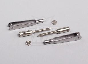 link de Aço Rápido Clevis w / 2mm rosca acopladores (1pair)