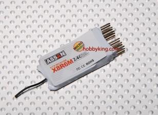 X8 R6M 6Ch Micro 2.4GHz Receiver (Short Antena)