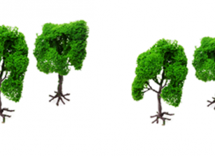 HobbyKing™ 120mm Scenic Wire Model Trees with Roots (4 pcs)