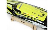 HydroPro Inception Deep Vee Racing Boat on stand top view