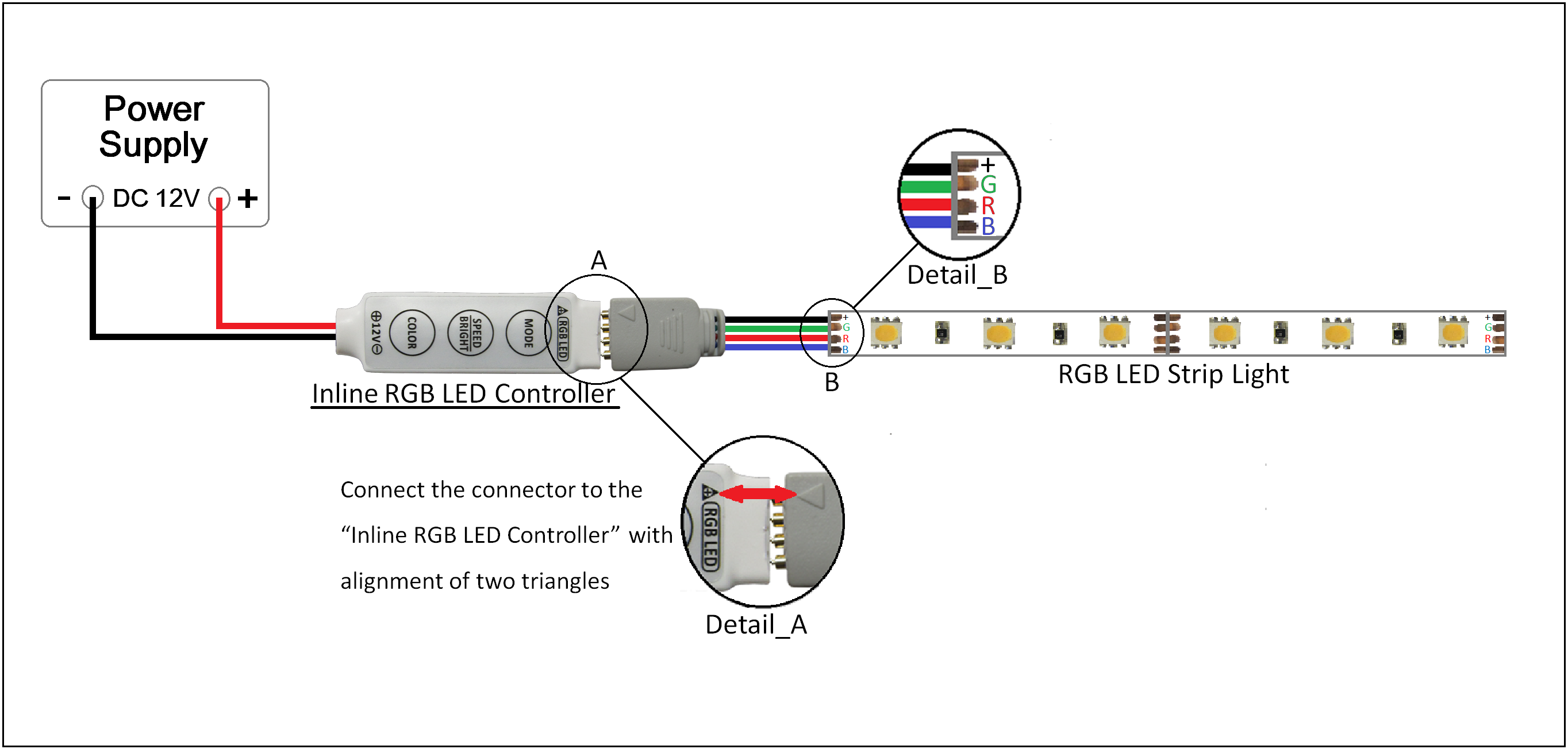 LED RGB Multi-Function Driver/Controller (19 effects/20 colors)  Watt Led Rgb Wiring Diagram on