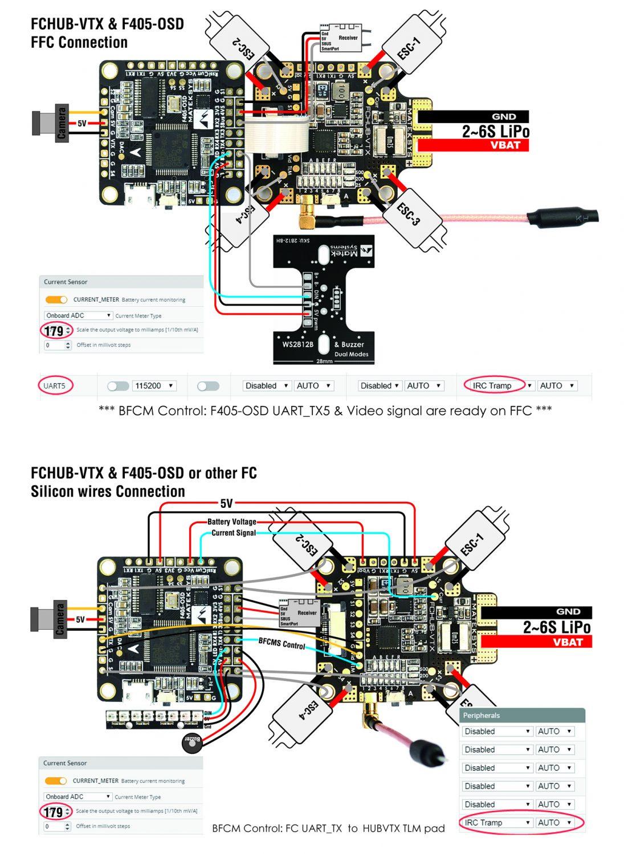 MATEKSYS Flight Controller F405-OSD w/ Betaflight, Blackbox