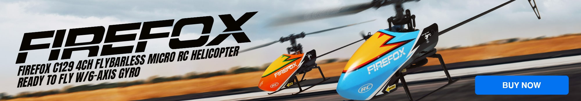Firefox C129 Flybarless Micro RC Helicopter - Buy Now!