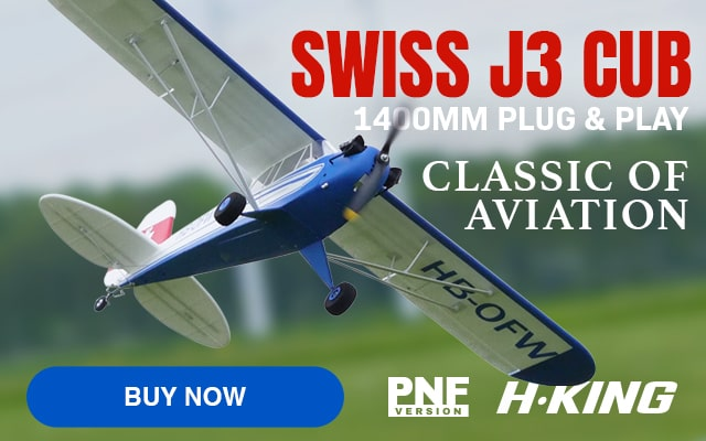 H-King Swiss J3 Cub Classic of Aviation - Buy Now!