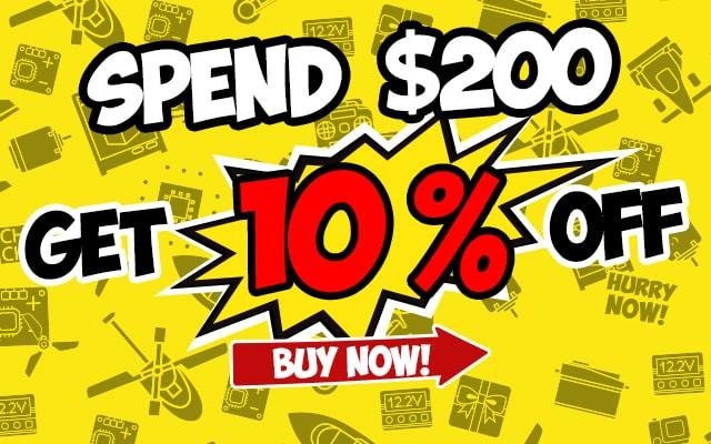 Spend $200, Get 10% OFF