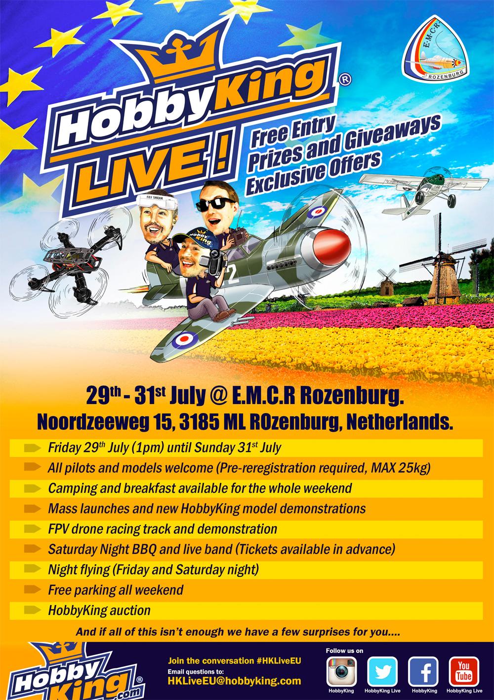 HobbyKing Live EU – 29th & 31st July 16
