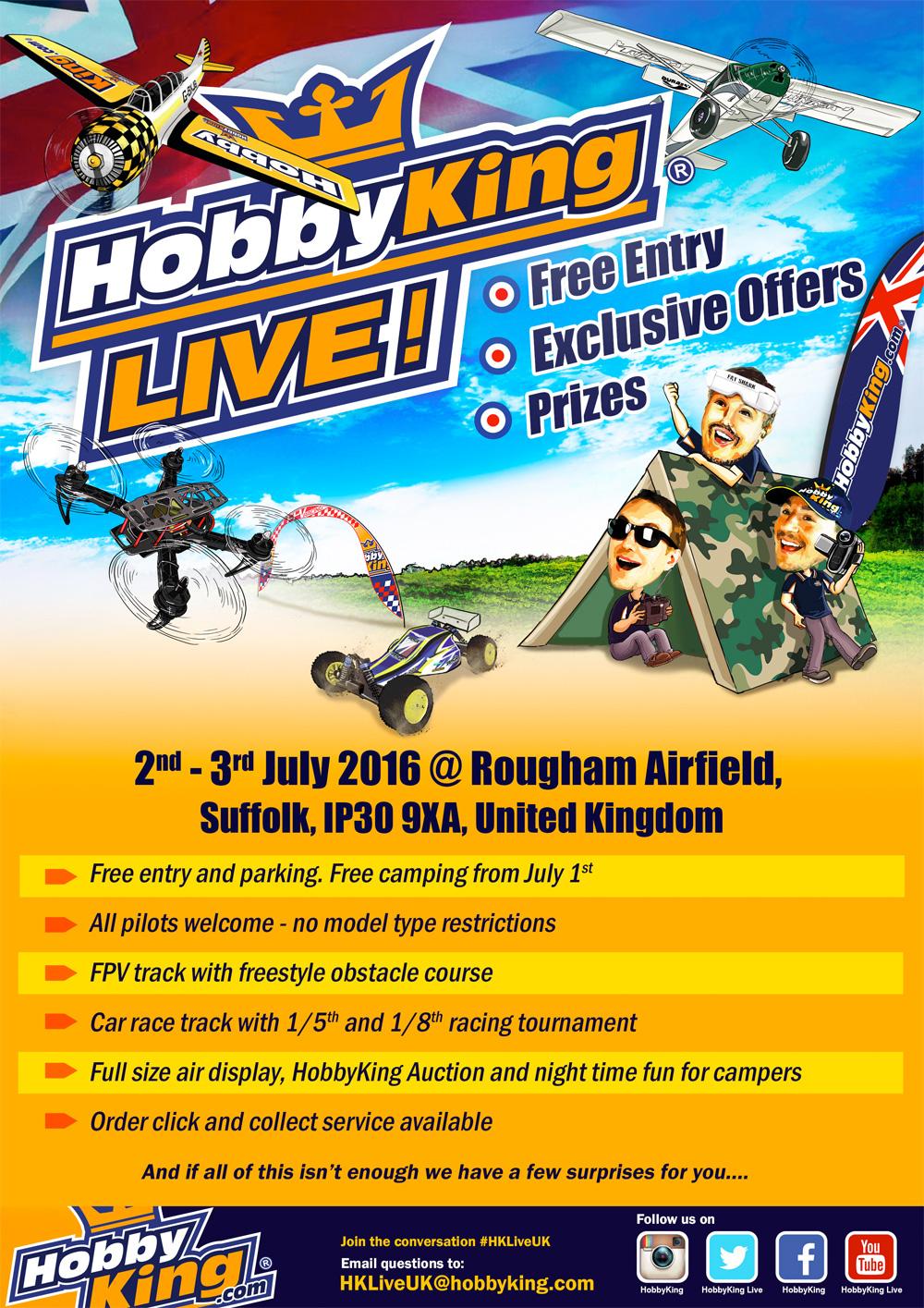 HobbyKing Live UK - 2nd & 3rd July 16