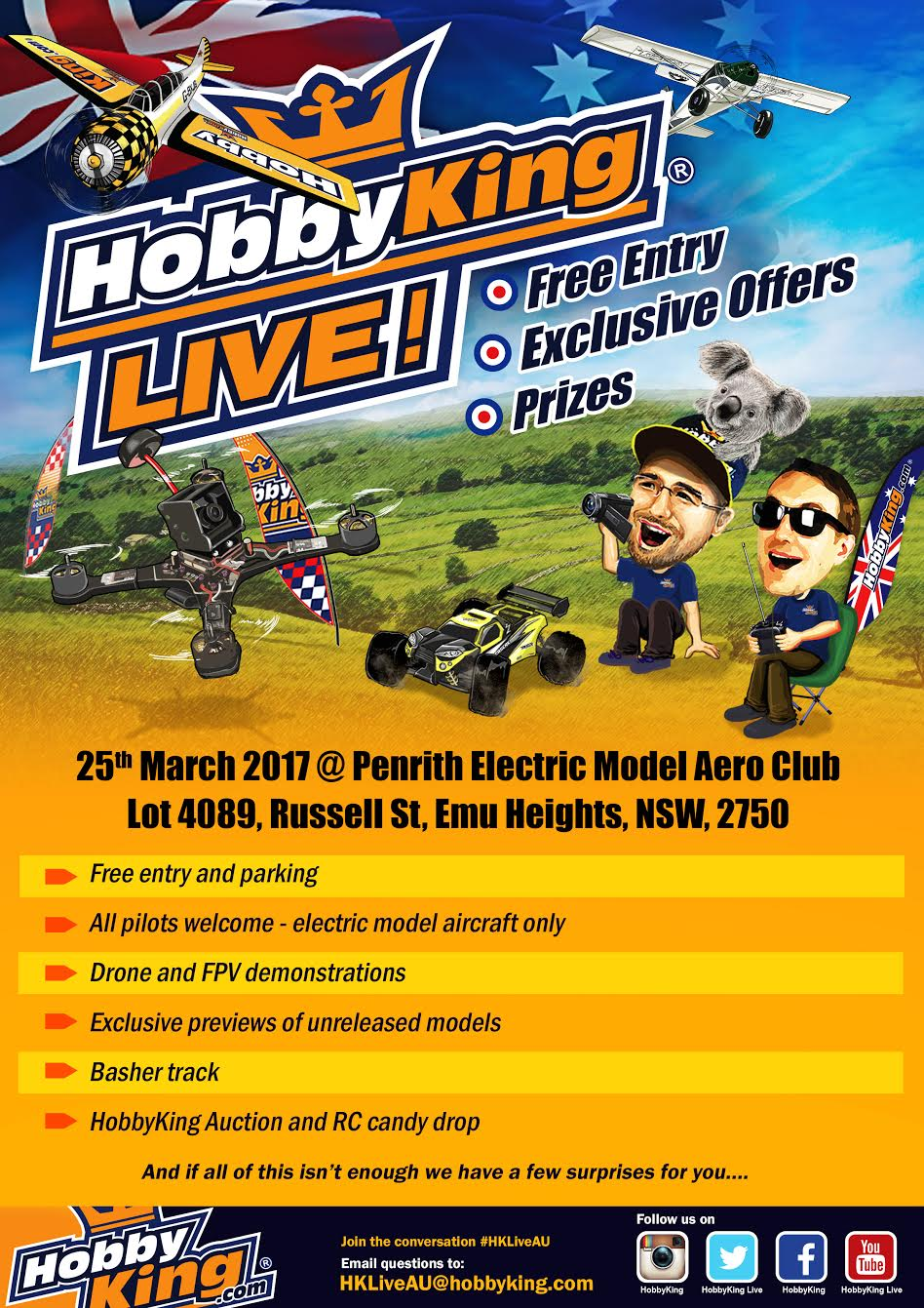 Join us at our first HobbyKing Live AU!