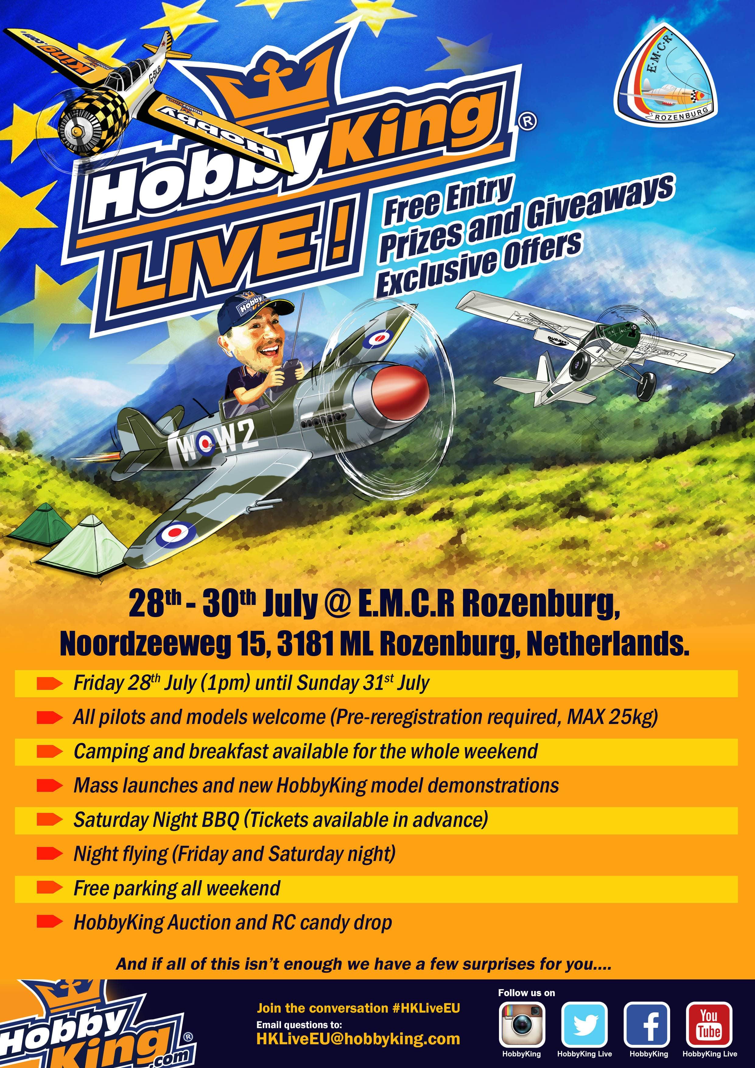 Join us for HobbyKing Live EU!