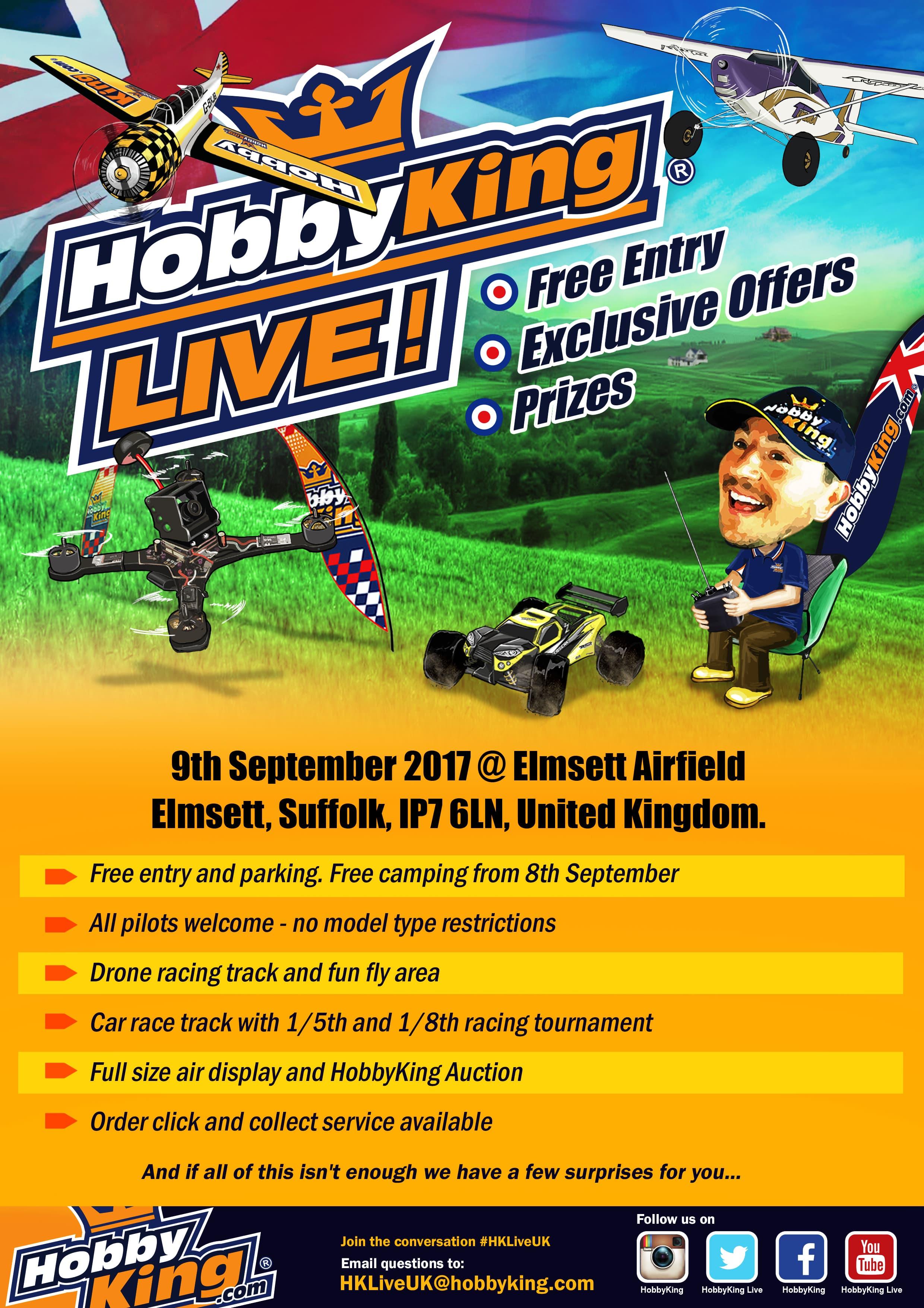 Register Now for HobbyKing Live UK - 9th of September
