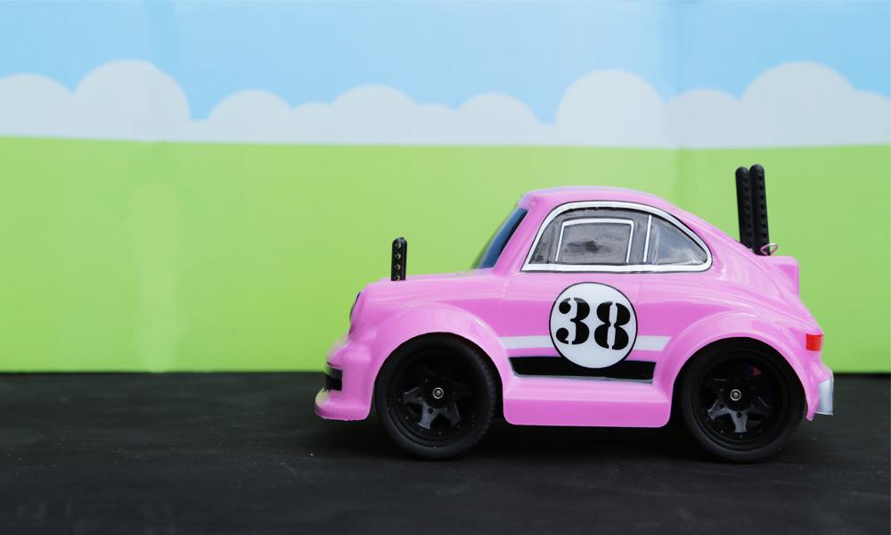 Pink is the New Black: Mini Q Cartoon Car